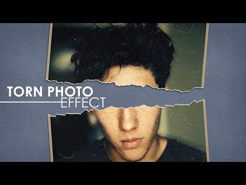 Torn Photo Effect - Photoshop Tutorial