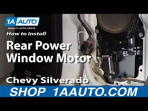 How To Install Replace Broken Rear Power Window Motor Silverado Sierra Suburban 99-06 1AAuto.com