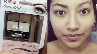 FIRST IMPRESSIONS NEW Kiss Beautiful Brow Kit FULL EYEBROW TUTORIAL - Alexisjayda