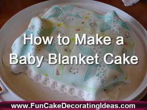 Baby Blanket Cake | How to Make a Baby Blanket Cake | Bankie Cake | Baby Shower Cake | Baby Cake