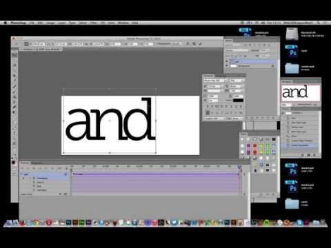 Photoshop CC : How to re-size (zoom) animated type on video timeline tutorial