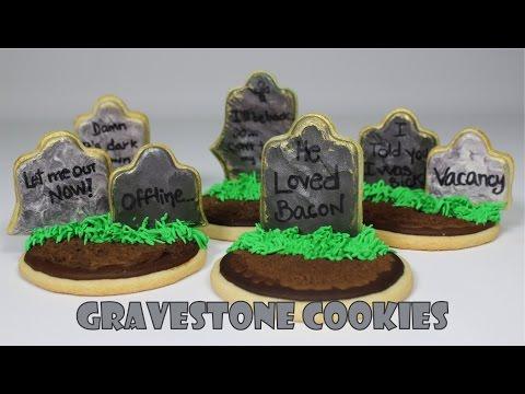 Gravestone Cookies