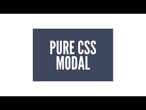 Pure CSS Animated Modal/Lightbox