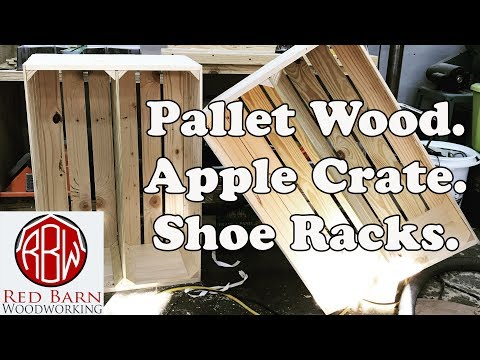 Pallet Wood. Apple Crate. Shoe Rack.