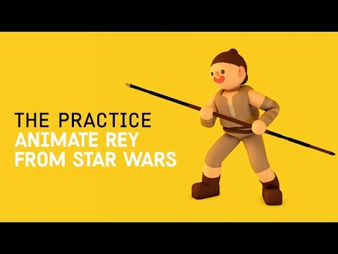 Model and Animate Rey from Star Wars  // The Practice 74