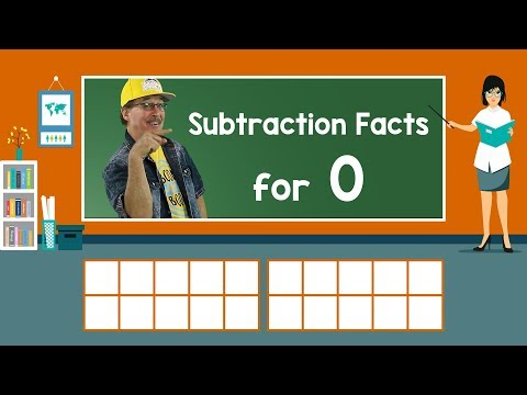 Practice Our Subtraction Facts for 0 | Subtraction Song | Math Song for Kids | Jack Hartmann