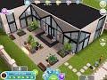 The Sims Freeplay double height mezzanine living designer house (original house design)