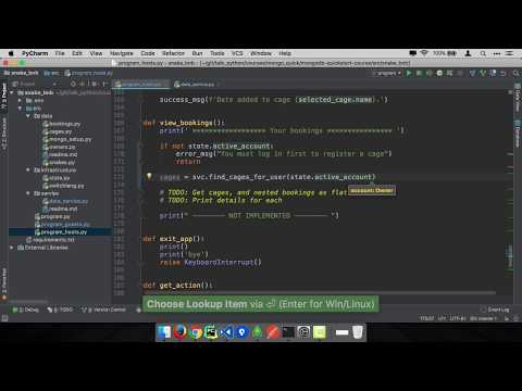 MongoDB and Python Quickstart (15/21): Demo: View bookings as host