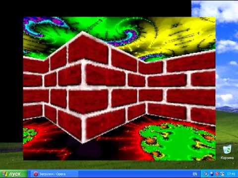Maze 3D Screensaver on Windows Xp
