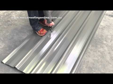 How to: Cutting a Trimdek Roof Sheet | Metal Roofing Online