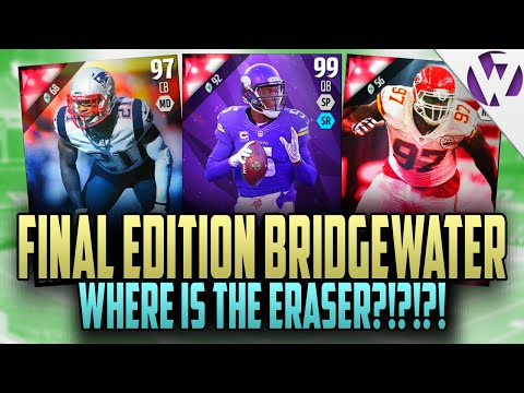 MADDEN 16 FINAL EDITION TEDDY BRIDGEWATER!! - WHERE IS REGGIE THE ERASER NELSON AND OTHER CARDS