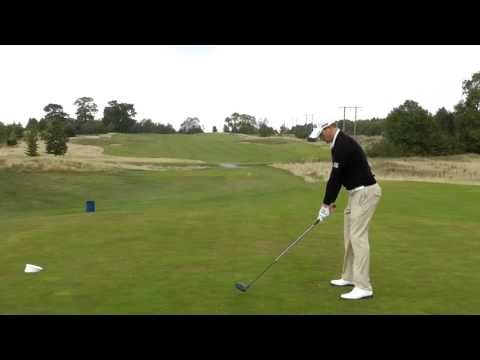 Left handed swings from the Tour