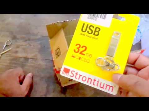 Strontium Ammo 32GB Metal Pen Drive Unboxing From Paytm Mall