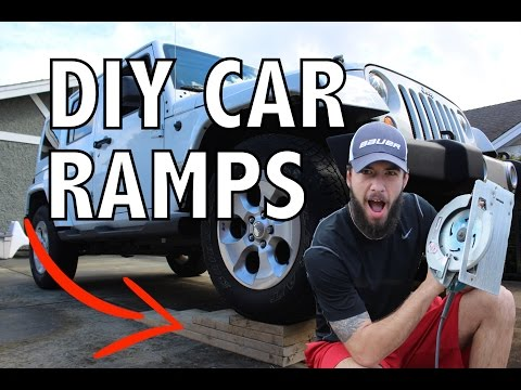 DIY: How to Build Cheap & Easy Wooden Car Ramp + Testing