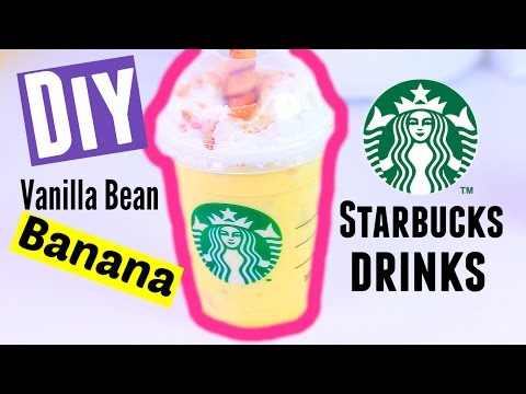 DIY Starbucks Frappuccino - Vanilla Bean Frappe Banana Flavored