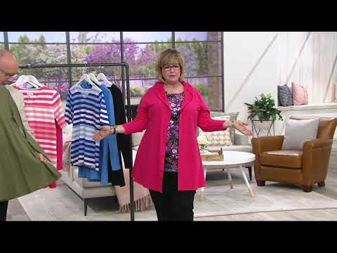 Denim & Co. Long-Sleeve Button Front Jacket with Hood on QVC