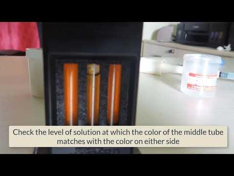 How to test Hemoglobin concentration using Sahlis method - Hb percent - Medical video - RJH
