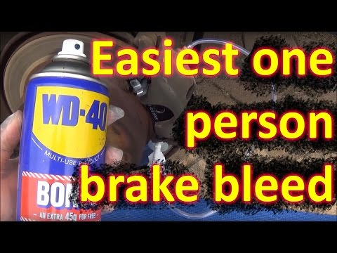 How to BLEED BRAKES by one person