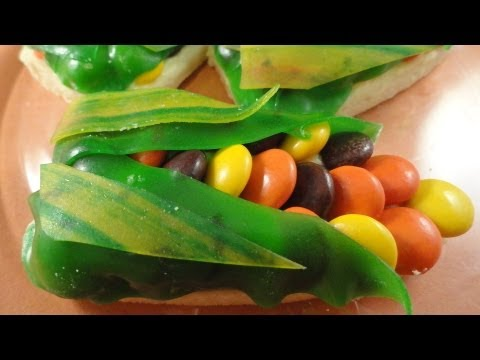 Colourful Corn Cookies & How to make your own cookie cutters