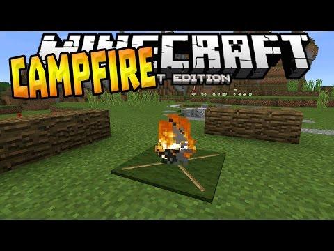CAMPFIRE in MCPE 1.1!!! - Campfire Trick - Minecraft PE (Pocket Edition)
