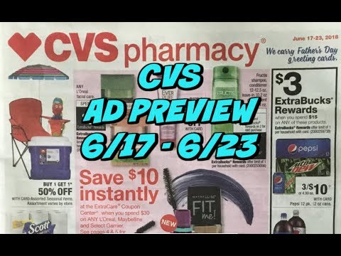 CVS AD PREVIEW 6/17 - 6/23 ~ HOT $10 OFF $30 Coupon!