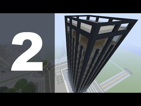 Minecraft Let's Build : 70's Style Skyscraper - Part 2