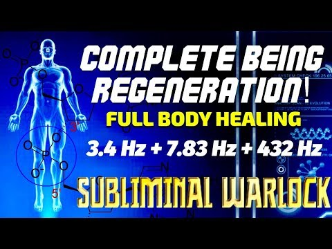 Complete Being Regeneration - Full Body Healing- 3.4 Hz + 7.83 Hz + 432 Hz Binaural Beats Meditation