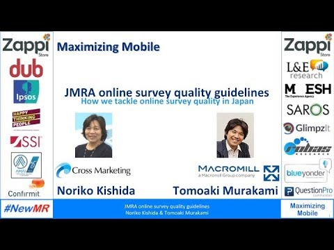 The online survey quality guideline by JMRA