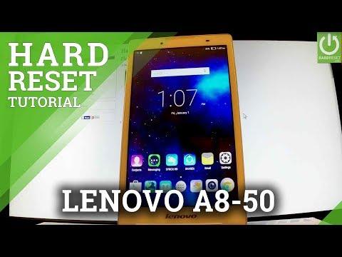 Hard Reset LENOVO A8-50 - Restore Settings / Delete Data / Format