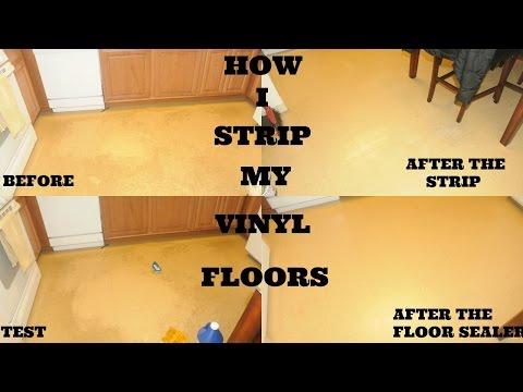 How I Strip My Vinyl Floors