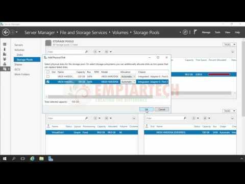Extend Storage Pool and Storage Space in windows server 2016 (HINDI)