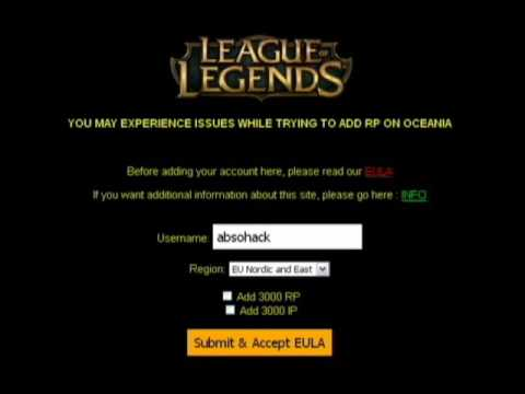 Get FREE rp in lol with no survey (2017)