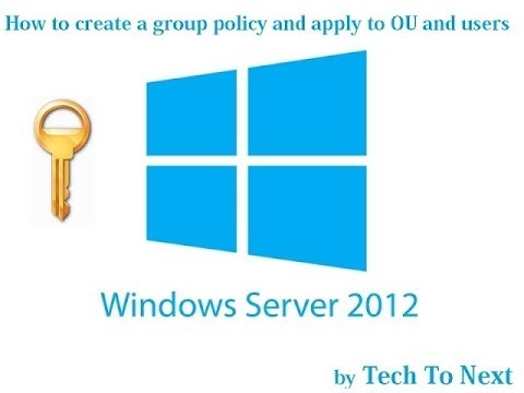 How to create a group policy and apply to OU and users | create group policy for Active Directory