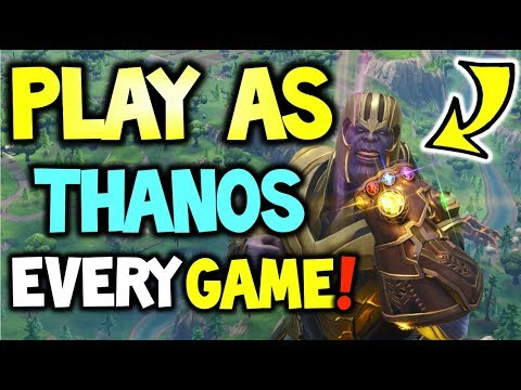How to play as THANOS Everytime Fortnite Battle Royale - How to become THANOS in FORTNITE -GAMEPLAY