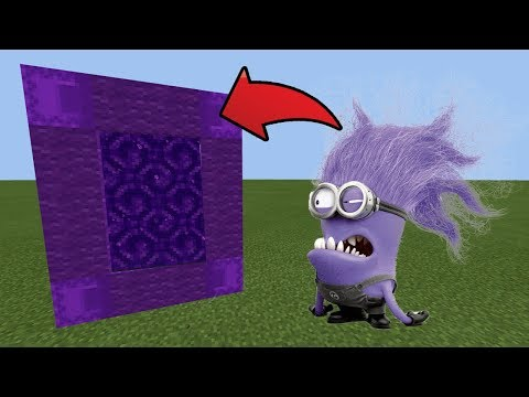 How To Make a Portal to the PURPLE MINIONS Dimension in MCPE (Minecraft PE)