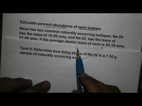 calculate percent abundance of each isotope