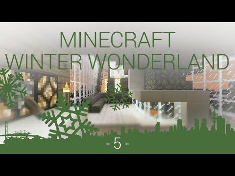 Minecraft Winter Wonderland - EP 5 - modern living room