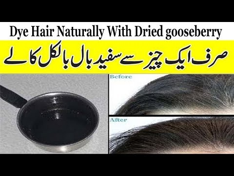 Dye Hair Naturally With Dried Emblic | Turn White Hair To Black Permanently | Balon Ki Sfaidi