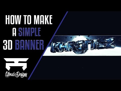 How To Make A Simple 3D YouTube Banner in Photoshop CS6/CC! (2016)