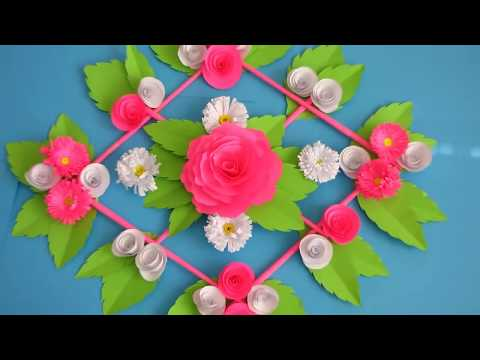DIY. Simple Home Decor. Wall Decoration. Hanging Flower. Paper Craft Ideas #19
