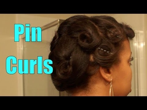 Pin Curls on Flat Ironed Hair