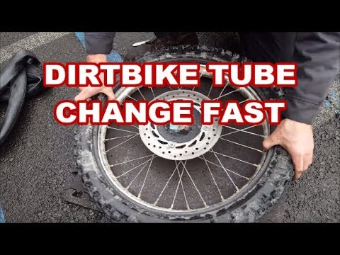 How to replace a dirt bike tire tube (trail side style)  motorcycle inner tube