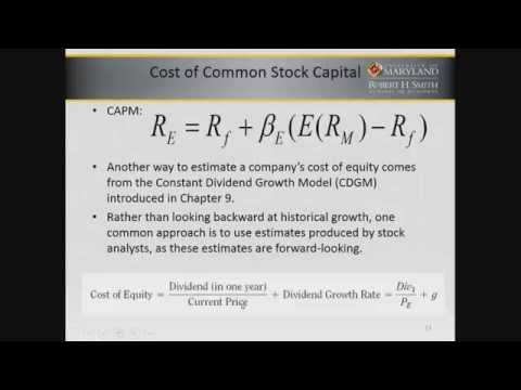 Cost of Capital  Firm's Cost of Debt and Equity Capital