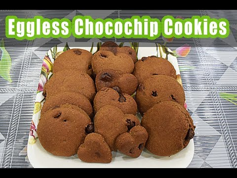Eggless Chocochip Cookies | Easy & Chewy Chocolate | Chocochip Cookies | Chocolate Chip Cookies