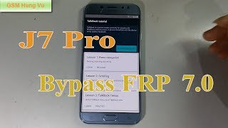 Samsung J7 Pro (SM-J730GM) Phone Unlock Pattern Unlock Pin Unlock