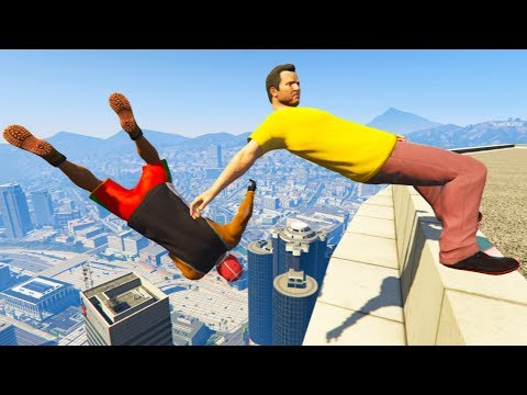 GTA 5 CRAZY Jumps/Falls Compilation #6 (Grand Theft Auto V Gameplay Moments)