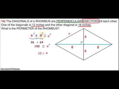 rhombus diagonals