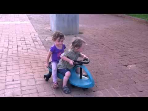 Bike safety - girl falls off bike
