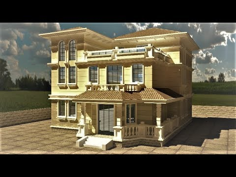 3Ds Max Advance exterior rendering tutorial | Vray rendering tutorial