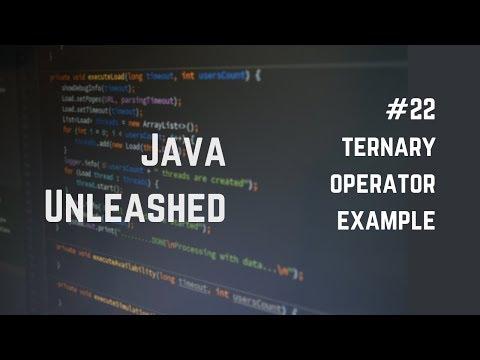#22 Java Ternary Operator Example